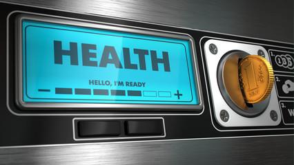 Health on Display of Vending Machine.