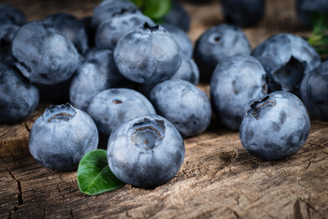 Organic fresh blueberry macro