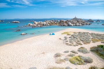 Cala Acciarino the most  beautiful beach on Lavezzi Island Corse