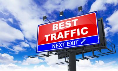 Best Traffic Inscription on Red Billboard.