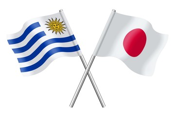 Flags: Uruguay and Japan