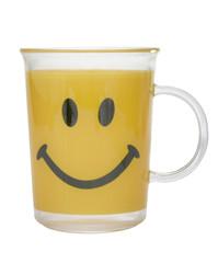 Trinkbecher aus Plastik mit Smiley