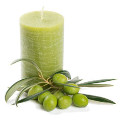 Candle with olives
