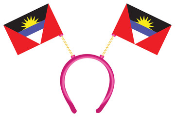 Flag of Antigua and Barbuda on the headdress