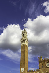 Siena, Tuscany, Torre del Mangia. Color image