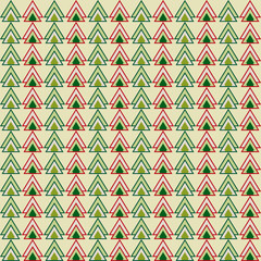 christmas colored triangles pattern background for use in design