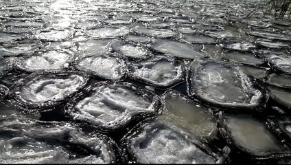 Floating ice.