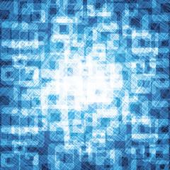 Transparent Squares On Blue Background