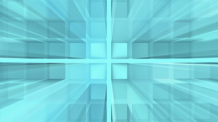 Abstract blue squares background - loop, HD 1080p.
