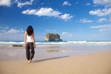 stylish woman in Ballota beach