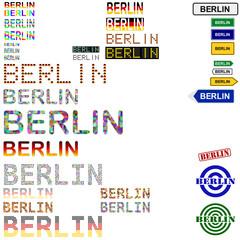 Berlin text design set