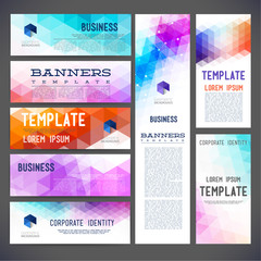 Eight abstract design banners for you