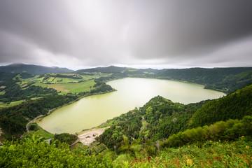 Vista panoramica da Lagoa das Furnas