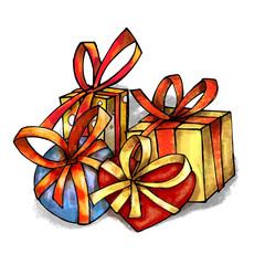 Cartoon gifts four