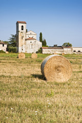 Typical Tuscany Romanesque church (Italy)