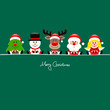 Tree, Snowman, Rudolph, Santa & Angel Gifts Green
