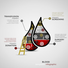 Blood donation concept infographic