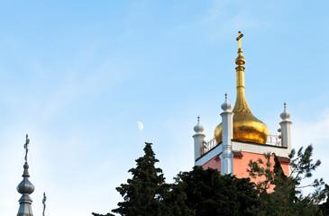 Church of St. John Chrysostom Yalta in evening