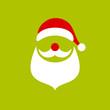 Santa Abstract Christmas Card Green