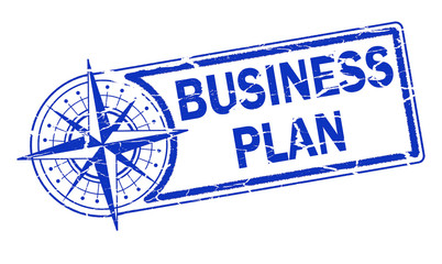 business plan stamp on white background