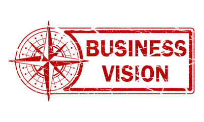 business vision stamp on white background