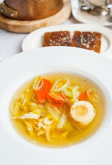 soup tafelspitz from boiled beef broth