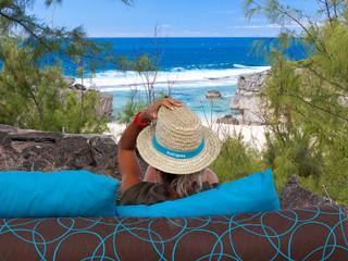 point de vue sur Trou d'Argent, île Rodrigues
