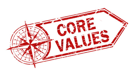 core value stamp on white background