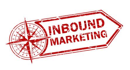 inbound marketing stamp on white background