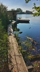 Anglerhütte an einem See