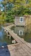 canvas print picture - Ein Wochenendhaus am See