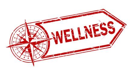 wellness stamp on white background