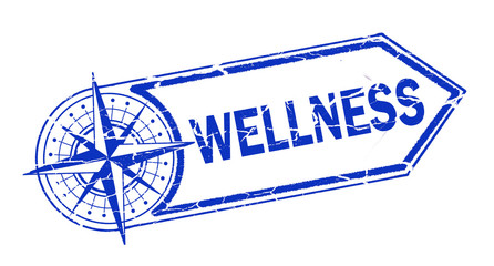 wellness stamp on white background