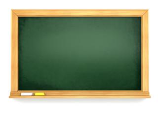 Blackboard or chalkboard on white isolated background.