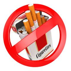 No smoking sign. on white isolated background.