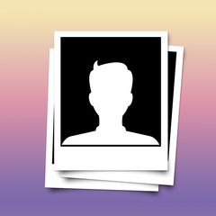 Photo frame of profile avatar on abstract background