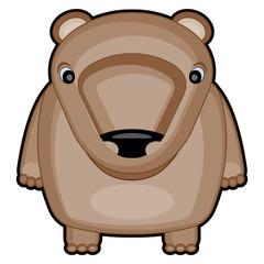 cartoon illustration of cute baby bear
