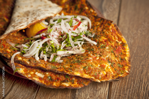 Turkish pide lahmacun - 72067266