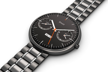 Black luxury smart watch