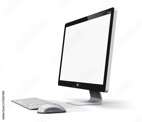 Leinwanddruck Bild Desktop computer