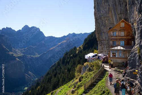 Foto op Canvas Alpen Berggasthaus Aescher - Alpstein - Alpen