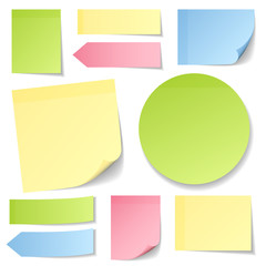 Collection Stick Notes Mix Color Round
