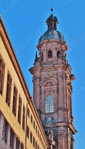 canvas print picture Turm der Neubaukirche Würzburg