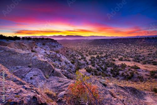 Leinwanddruck Bild Tsankawi Sunrise