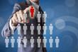 Businessman select leader career of business conceptual