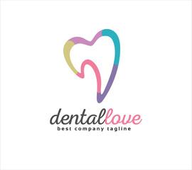 Abstract dental vector logo icon concept. Logotype template for