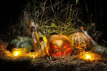 Halloween, Pumpkins, Witches