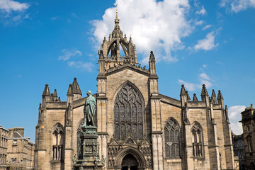 The St. Giles Cathedral in Edinburgh, Scotland
