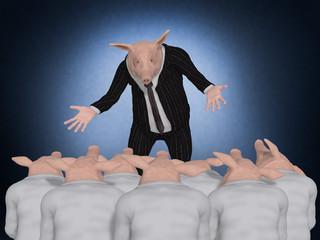 Pig Boss speaking