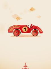 Toy car. Eps 10